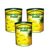 Dilimlenmiş Ananas 3 Lü Tropıccan 820 Gr