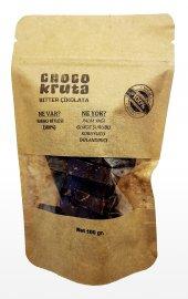 Choco Kruta Şekersiz 100% Bitter Çikolata (100 Gr.) (Kırık)