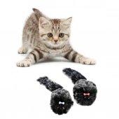 Fare Şeklinde Tüylü Realist Kedi Oyuncağı (2 Adet)