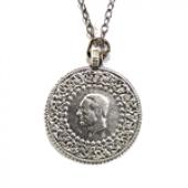 Tam Altın Modeli Atatürk Gümüş Kaplama Zincir Kolye