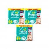 Prima Bebek Bezi 2 Beden Numara Mini 4 8 Kg 72 Li 3 Paket 216 Adet