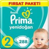 Prima Bebek Bezi 2 Beden Numara Mini 4 8 Kg 72 Li 4 Paket 288 Adet