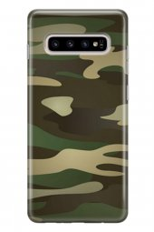 Samsung Galaxy S10 Plus Kılıf Kamuflaj Desenli Chloe