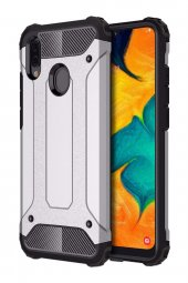 Samsung Galaxy A30 Kılıf Armor Gümüş Gri