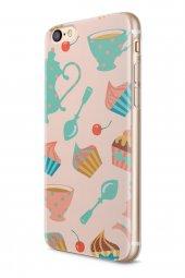 Apple iPhone 6 6S Kılıf Tea Time Serisi Angela-2