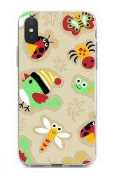 Apple iPhone XS Max Kılıf Ladybug Serisi Rose