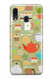 Samsung Galaxy A30 Kılıf Tea Time Serisi Juliet