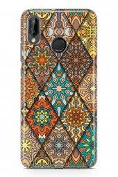 Huawei P20 Lite Kılıf Patchwork Serisi Alina