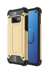 Samsung Galaxy S10e Kılıf Armor Koruma Gold