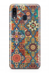 Samsung Galaxy A40 Kılıf Patchwork Serisi Mariah