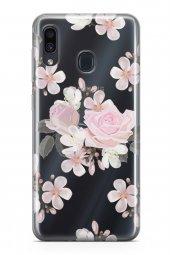 Samsung Galaxy A20 Kılıf Şeffaf Rosie Serisi Evangeline