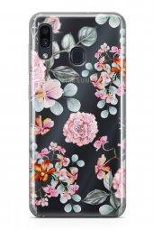 Samsung Galaxy A20 Kılıf Şeffaf Rosie Serisi Thea