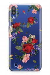Samsung Galaxy M10 Kılıf Şeffaf Rosie Serisi Alexandria