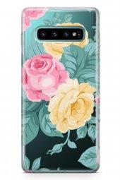 Samsung Galaxy S10 Kılıf Şeffaf Rosie Serisi Olive