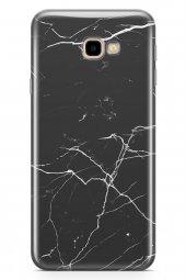 Samsung Galaxy J4 Plus Kılıf Marble Serisi Siyah Beyaz