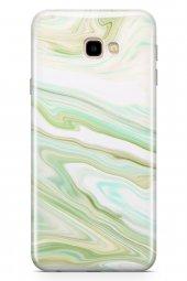 Samsung Galaxy J4 Plus Kılıf Sweet Dreams Serisi Yeşil Beyaz