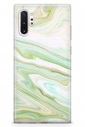 Samsung Galaxy Note 10 Plus Kılıf Sweet Dreams Serisi Yeşil Beyaz