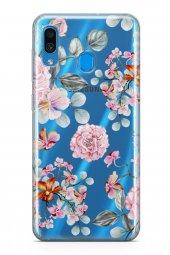 Samsung Galaxy A40 Kılıf Şeffaf Rosie Serisi Thea