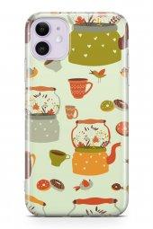 Apple iPhone 11 Kılıf Tea Time Serisi Elliana