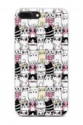 Apple iPhone 8 Plus Kılıf Kitty Serisi Jasmine