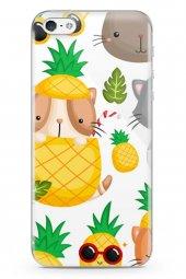 Apple iPhone 5 Kılıf Pineapple Serisi Addison