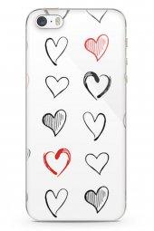 Apple iPhone SE Kılıf Love Serisi White