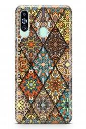 Samsung Galaxy M40 Kılıf Patchwork Serisi Alina