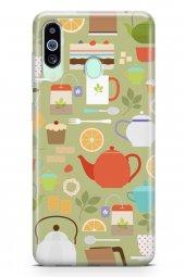 Samsung Galaxy M40 Kılıf Tea Time Serisi Juliet