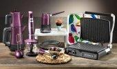 Aryıldız Mutfak Seti Elektrikli Çeyiz Seti Mania Serisi 4lü Purple Mor