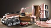 Aryıldız Mutfak Seti Elektrikli Çeyiz Seti Mania Serisi 4lü Rose Gold