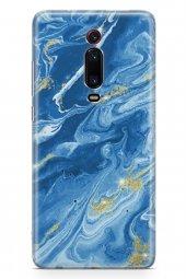 Xiaomi Redmi K20 Pro Premium Kılıf Marble Mermer Serisi Mavi