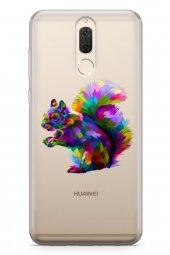 Huawei Nova 2i Kılıf Şeffaf Wild Life Serisi Lena