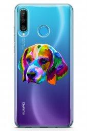 Huawei P30 Lite 2020 Kılıf Şeffaf Wild Life Serisi Aniyah