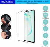 Samsung Galaxy S10 Lite Tam Kaplayan Ekran Koruyucu 5D Nano Glass