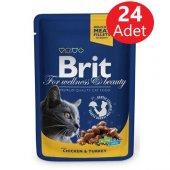 Brit Premium Tavuk Ve Hindili Yaş Kedi Maması...