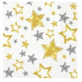 Gold Gümüş Yıldızlar Peçete
