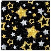 Siyah Simli Yıldızlar Peçete