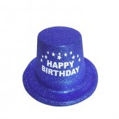 Happy Birthday Lacivert Şapka Küçük