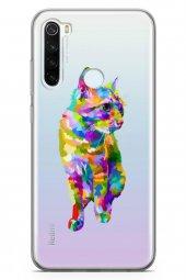 Xiaomi Redmi Note 8 Kılıf Şeffaf Wild Life Serisi Kali