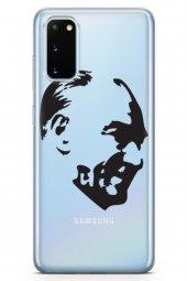 Samsung Galaxy S20 Kılıf Atatürk Serisi Gülerken