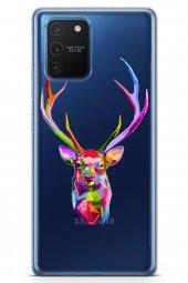 Samsung Galaxy S10 Lite Kılıf Şeffaf Wild Life Serisi Ariella