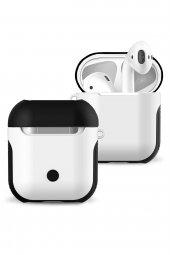 Apple Airpods 2in1 Kılıf Siyah Beyaz