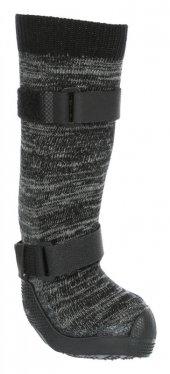 Trixie Yumuşak Köpek Çizmesi M 2 Adet Siyah Gri...
