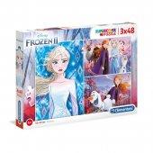 Clementoni 25240 Frozen 2 3x38 Parça Çocuk Puzzle