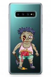 Samsung Galaxy S10 Kılıf Zombie Serisi Alani