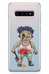 Samsung Galaxy S10 Plus Kılıf Zombie Serisi Alani