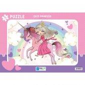 Blue Focus Sevimli Prenses 30 Parça Frame Puzzle
