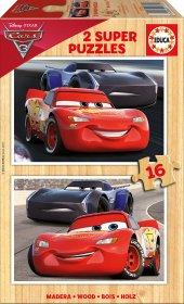 Educa Cars 3 2x16 Parça Ahşap Çocuk Puzzle