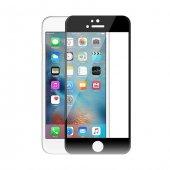 Iphone 6 6s Siyah İnce Ekran Koruyucu 3d Cam