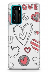 Huawei P40 Kılıf Love Serisi Big